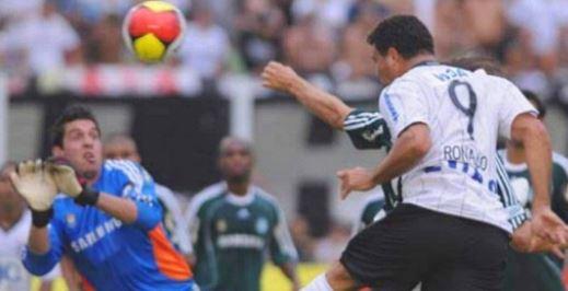 Cabeceio que originou o gol. Foto: Reprodução