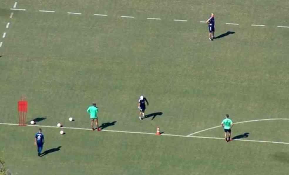 Treinamento Ninho do Urubu. Foto: Reprodução/TV Globo
