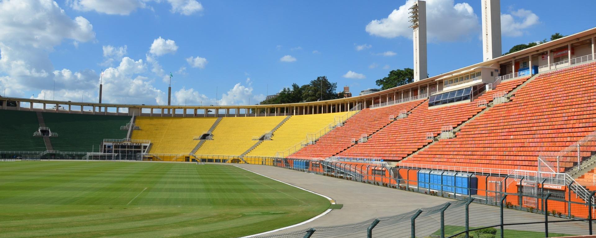 Arquibancada Pacaembu. Foto: Reprodução/ Arquivo Secretaria de Esportes, Lazer e Recreação de São Paulo