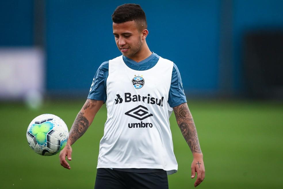 Jogador Matheus Henrique está com Covid-19 Foto: Lucas Uebel/Grêmio