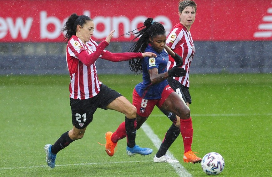 Ludmila em jogo pelo Atlético de Madrid