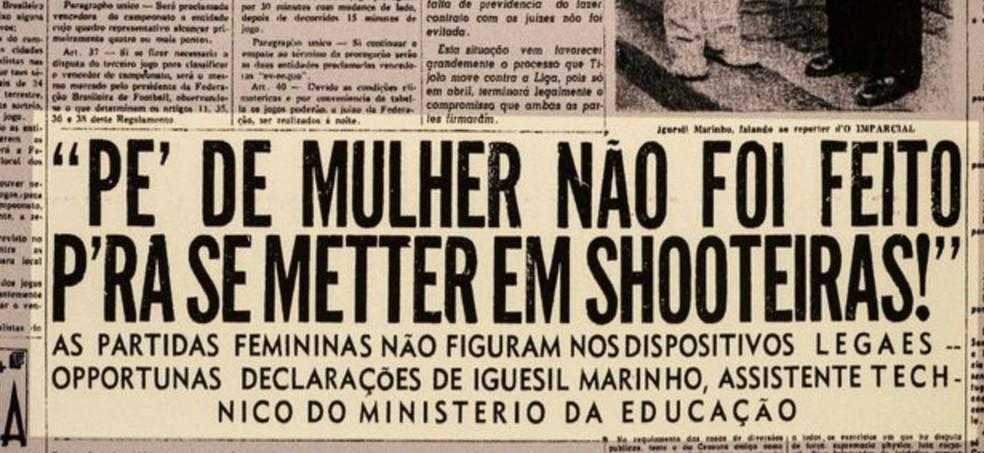 Jornal no museu do futebol em SP — Foto: arquivo